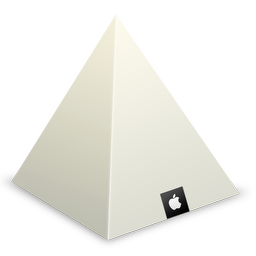 256x256px size png icon of Apple Store Louvre Pyramid