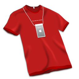 256x256px size png icon of Apple Store Tshirt Red