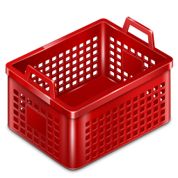 256x256px size png icon of basket empty