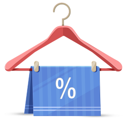 256x256px size png icon of discount