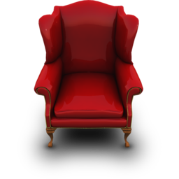 256x256px size png icon of RedCouch