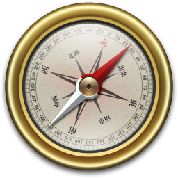 256x256px size png icon of Compass Gold