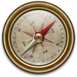256x256px size png icon of Compass Vintage