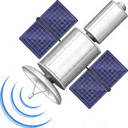 256x256px size png icon of Satellite
