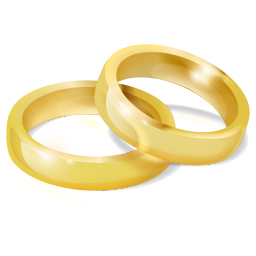 256x256px size png icon of Wedding Rings