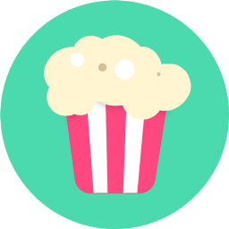 256x256px size png icon of Popcorn