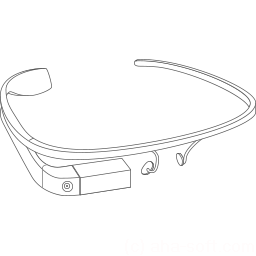 256x256px size png icon of Google Glass construction
