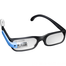 256x256px size png icon of Guy Google Glasses