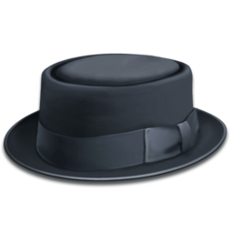 256x256px size png icon of hat blue