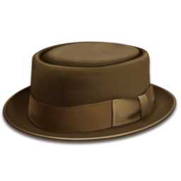 256x256px size png icon of hat brown