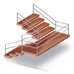 256x256px size png icon of Escaleras