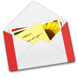 256x256px size png icon of Letter GMail