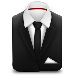 256x256px size png icon of Manager Suit Black Tie