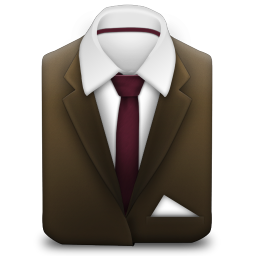 256x256px size png icon of Manager Suit Brown