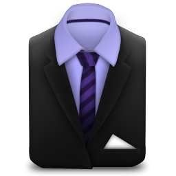 256x256px size png icon of Manager Suit Purple Stripes