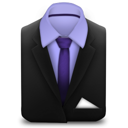 256x256px size png icon of Manager Suit Purple