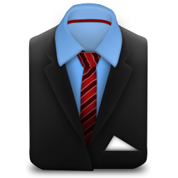 256x256px size png icon of Manager Suit Red Stripes