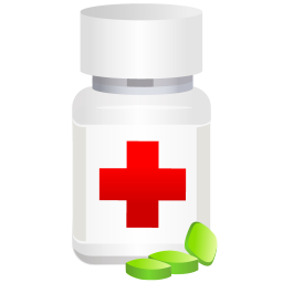 256x256px size png icon of medical pills pot