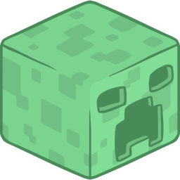 256x256px size png icon of 3D Creeper