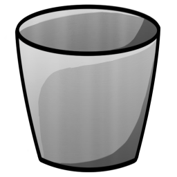 256x256px size png icon of Bucket Empty