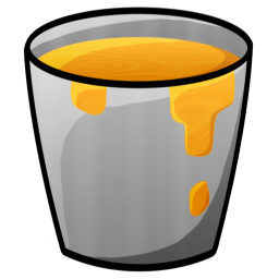 256x256px size png icon of Bucket Lava