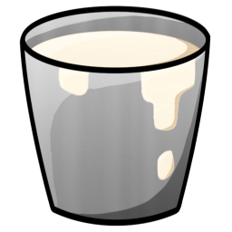 256x256px size png icon of Bucket Milk