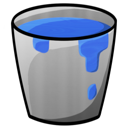 256x256px size png icon of Bucket Water