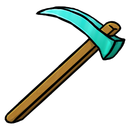 256x256px size png icon of Diamond Hoe