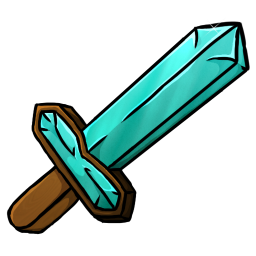 256x256px size png icon of Diamond Sword