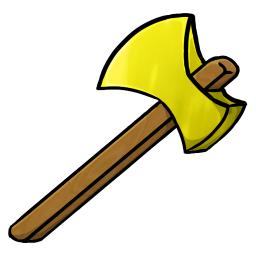 256x256px size png icon of Gold Axe