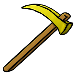 256x256px size png icon of Gold Hoe