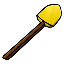 256x256px size png icon of Gold Shovel