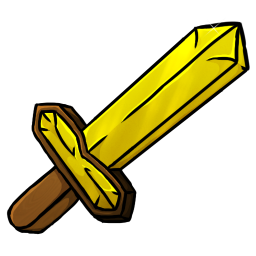 256x256px size png icon of Gold Sword