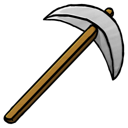 256x256px size png icon of Iron Pickaxe