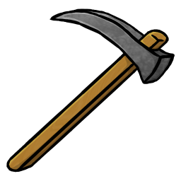 256x256px size png icon of Stone Hoe