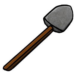 256x256px size png icon of Stone Shovel