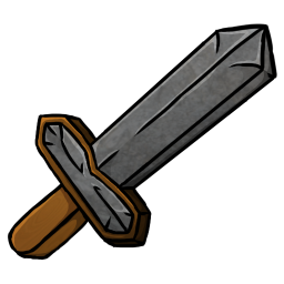 256x256px size png icon of Stone Sword
