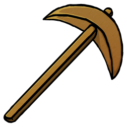 256x256px size png icon of Wooden Pickaxe