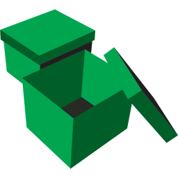 256x256px size png icon of boxes green
