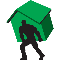 256x256px size png icon of carry home green