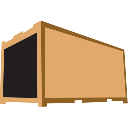 256x256px size png icon of container brown