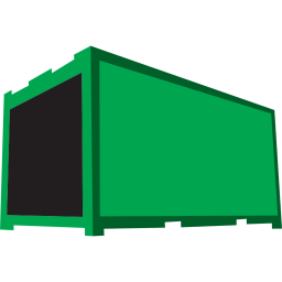 256x256px size png icon of container green