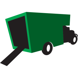 256x256px size png icon of truck green