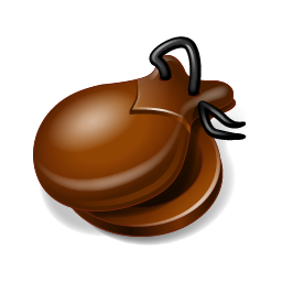 256x256px size png icon of Castanets