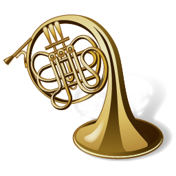 256x256px size png icon of Horn