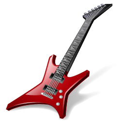 256x256px size png icon of Rock Guitar