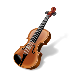 256x256px size png icon of Violin