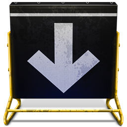 256x256px size png icon of Arrow Sign