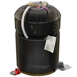 256x256px size png icon of Trash Can Full