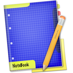256x256px size png icon of Blue NoteBook